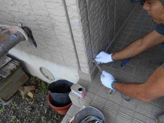 藤枝市外壁塗装工事ーコーキング