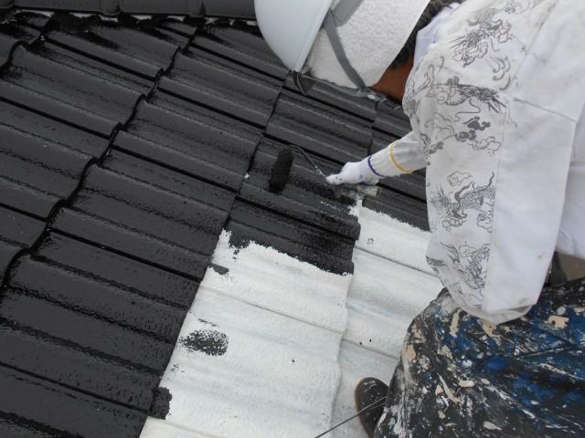 15屋根中塗り