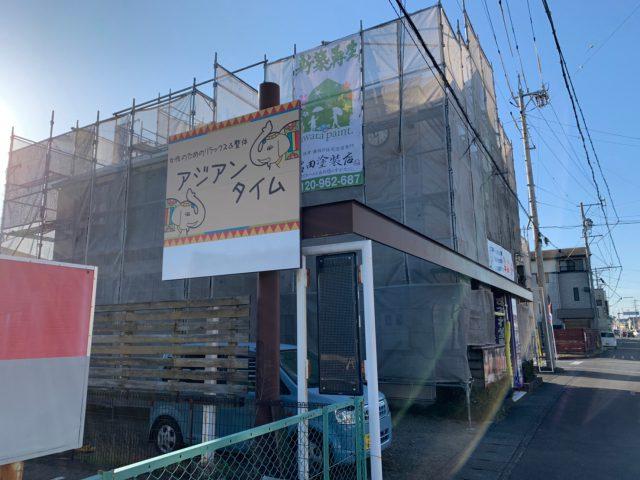 藤枝市の足場工事